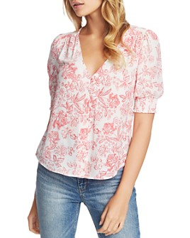 1.STATE - Floral-Print Top