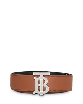 Burberry - Reversible Monogram Motif Leather Belt