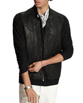 John Varvatos Collection - Sheep Skin Slim Fit Vest