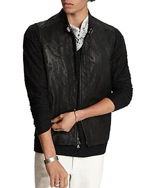 John Varvatos Collection Sheep Skin Slim Fit Vest