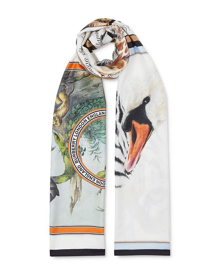 Burberry - Animal Montage Silk Twill Scarf