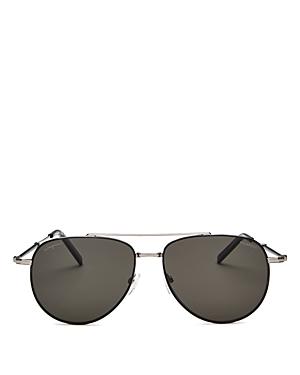 Salvatore Ferragamo Men's Timeless Polarized Aviator Sunglasses, 58mm