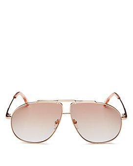 Le Specs Luxe - Unisex Brow Bar Aviator Sunglasses, 62mm