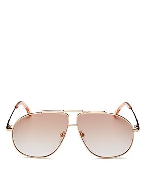 Le Specs Luxe Unisex Brow Bar Aviator Sunglasses, 62mm