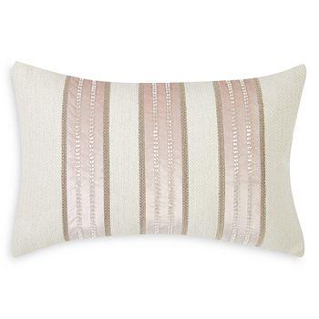 "Charisma - Melange Beaded Stripe Decorative Pillow, 14"" x 22"""