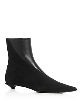 Proenza Schouler - Women's Pointed-Toe Kitten-Heel Booties