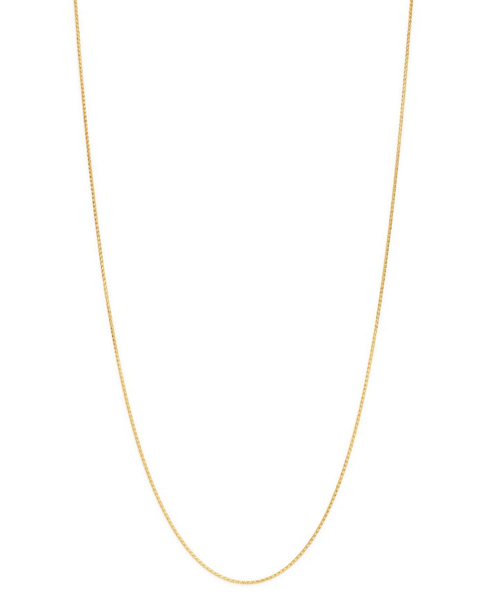 """Bloomingdale's 14K Yellow Gold Solid Wheat Chain Necklace, 16"""" - 100% Exclusive    Bloomingdale's"""