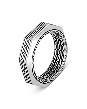JOHN HARDY - Sterling Silver Classic Chain Hexagon Ring