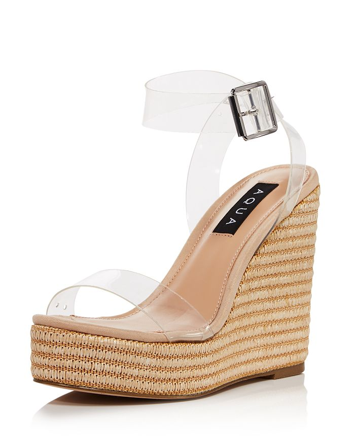 AQUA - Women's Salyc Espadrille Wedge Platform Sandals