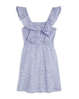 Hayden Los Angeles - Girls' Cotton Embroidered Ruffled Dress - Big Kid