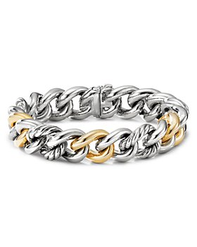David Yurman - Curb Chain Bracelet with 14K Yellow Gold