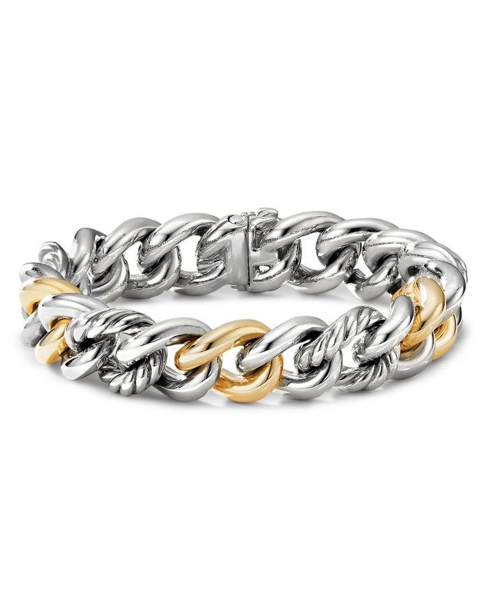 David Yurman Curb Chain Bracelet with 14K Yellow Gold   | Bloomingdale's