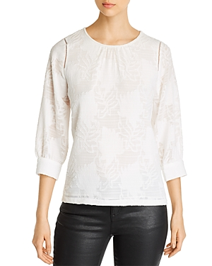 Karl Lagerfeld Paris Burnout Lace Blouse-Women
