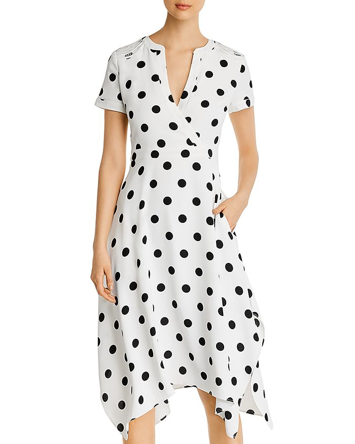 KARL LAGERFELD PARIS - Polka-Dot Midi Dress