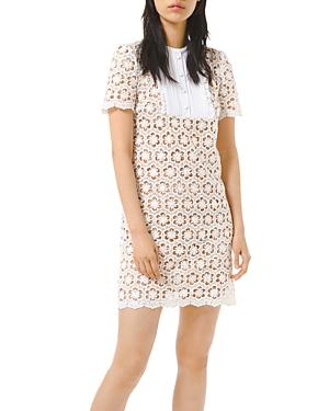 Michael Michael Kors Sequined Floral Lace Mini Dress-Women