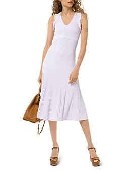 MICHAEL Michael Kors - Pleated Ruffle-Trim Dress