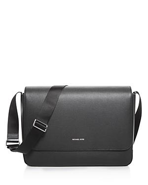 Michael Kors Mason Explorer Pebbled Leather Messenger Bag