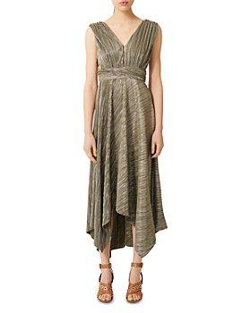 Maje - Royal Pleated Maxi Dress