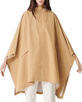 Maje - Galak Hooded Poncho-Style Coat