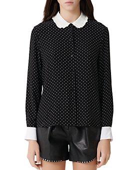 Maje - Calicia Polka-Dot Shirt