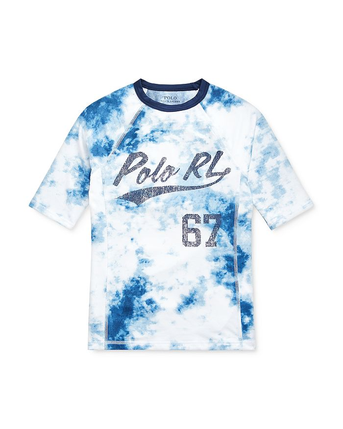 Ralph Lauren - Boys' Tie-Dyed Logo Rash Guard - Big Kid