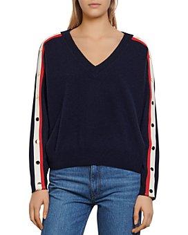 Sandro - Shady Sweater With Striped Trim