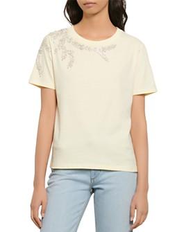 Sandro - Stras Beaded T-Shirt