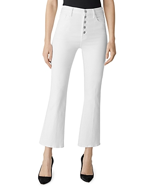 J Brand Lillie High-Rise Ankle Flare Jeans in Blanc-Women