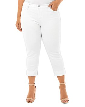 Liverpool Los Angeles Plus - Charlie Crop Jeans in Bright White