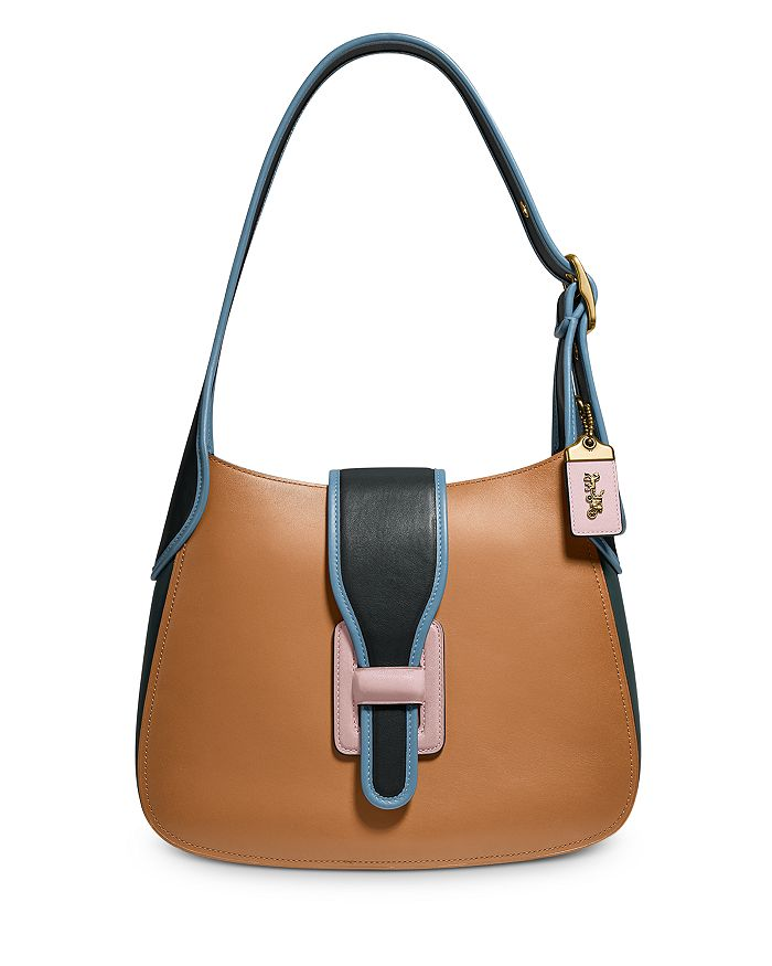 COACH - Color-Block Leather Courier Medium Hobo Shoulder Bag