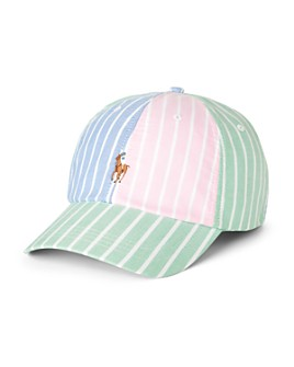 Polo Ralph Lauren - Cotton Oxford Color-Blocked Stripe Ball Cap