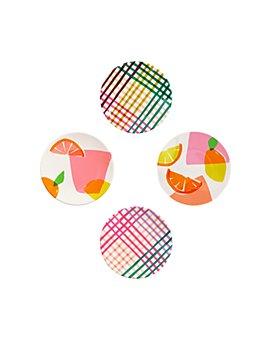 kate spade new york - Citrus Celebration Melamine Tidbit Plates, Set of 4