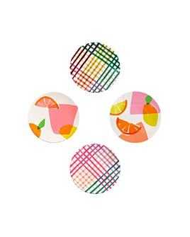 kate spade new york - Citrus Celebration Melamine Tidbit Plates, Set of 4