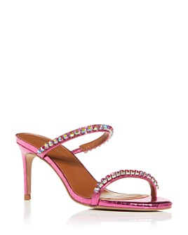KURT GEIGER LONDON - Women's Priya Crystal Snake-Embossed High-Heel Sandals