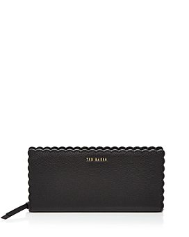 Ted Baker - Vivecka Scalloped Leather Matinee Wallet