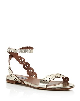 Tabitha Simmons - Women's Bobbin Perforated Lace Slingback Sandals