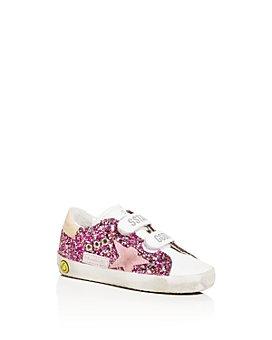 Golden Goose Deluxe Brand - Girls' Old School Sparkly Low-Top Sneakers - Baby, Walker, Toddler
