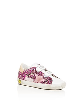 Golden Goose Deluxe Brand - Girls' Old School Sparkly Low-Top Sneakers - Baby, Walker, Toddler