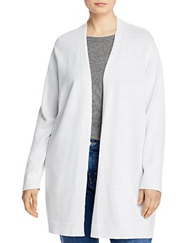 Eileen Fisher Plus - Open-Front Long Cardigan