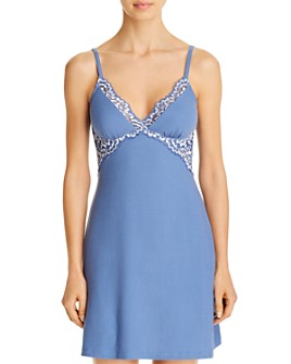 Cosabella - Lace-Trim Ribbed Chemise Nightgown