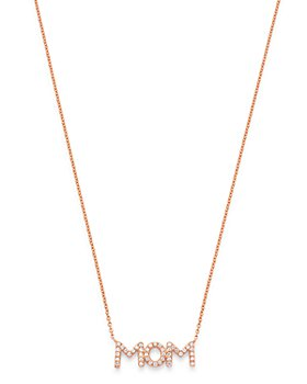 Bloomingdale's - Diamond Mom Pendant Necklace in 14K Rose Gold, 0.08 ct. t.w. - 100% Exclusive