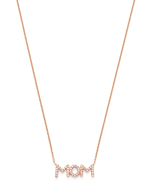 Bloomingdale's Diamond Mom Pendant Necklace in 14K Rose Gold, 17 - 100% Exclusive