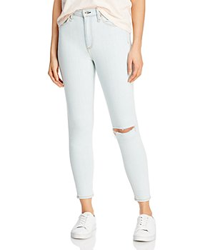 rag & bone - Nina Ripped Skinny Ankle Jeans in Lake Distressed