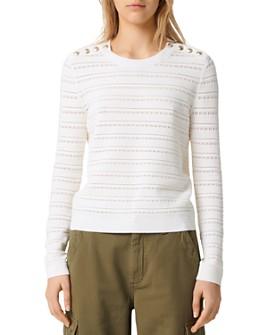 Maje - Metier Open-Knit Sweater