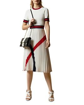 Ted Baker - Fynlie Knitted Pleated-Skirt Dress