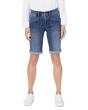 Nydj Cuffed Jean Shorts in Clean Lazaro