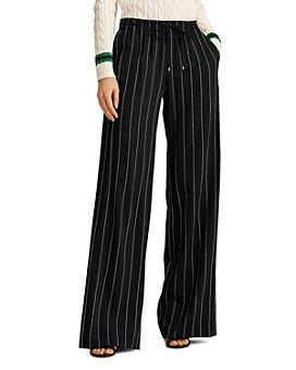 Ralph Lauren - Pinstriped Wide-Leg Pants