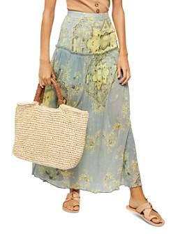 Free People - Farrah Drop-Waist Maxi Skirt