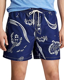 Polo Ralph Lauren - Traveler Mermaid-Print Swim Trunks