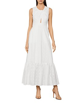 BCBGMAXAZRIA - Cotton Eyelet Maxi Dress